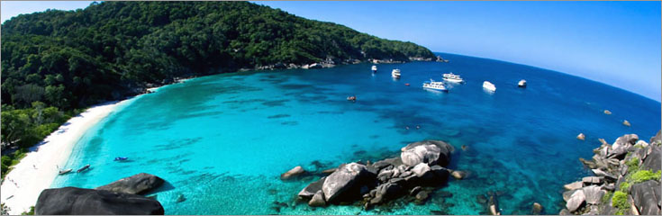 Scuba diving the Similan Islands